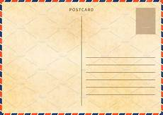 postcard template for powerpoint retro blank postcard template illustrations creative