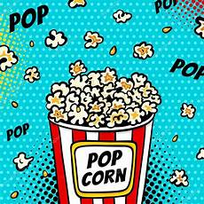 Pop Art Food Pop Art Fast Food In The Cinema Bright Background With