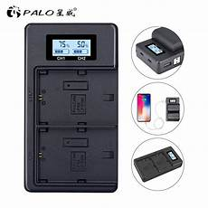 Palo Power Battery Charger Dual by Palo Lp E6 Lpe6 Lp E6 E6n Battery Charger Lcd Dual