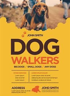 Dog Walker Flyers Creative Dog Walkers Flyer Template