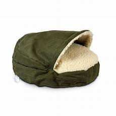 snoozer luxury cozy cave pet bed in olive petco