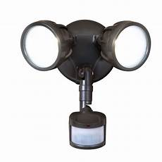 Outdoor Led Motion Sensor Light Home Depot All Pro 180 Degree Bronze Motion Activated Sensor Twin