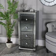 mirrored tallboy chest of drawers verona range melody