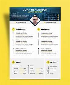 Creative Designer Cv Free Creative Resume Cv Design Template For Ui Ux