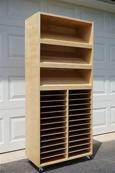 craft paper punch storage cabinet white