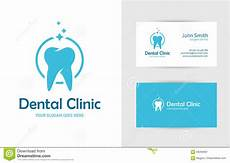 Dental Clinic Card Design Dental Clinic Logo With Tooth Stock Vector Illustration