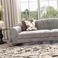 classic luxury nubuck leather grey sofa