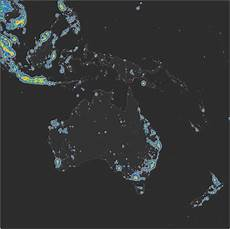 World Light Map Detailed Map Of Light Pollution Around The World