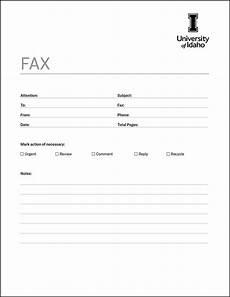 Free Printable Fax Sheet Fax Cover Sheet Brand Toolkit University Of Idaho