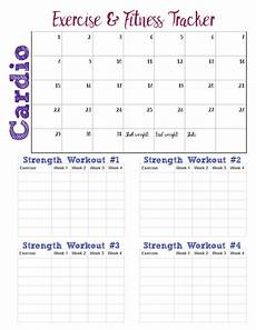 Printable Exercise Tracker Free Printable Fitness Trackers 3 Different Monthly Designs
