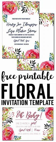 Birthday Party Invitation Templates Free Printable Floral Invitation Template Free Printable Paper Trail