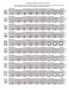 Actual Gemstone Size Chart Cubic Zirconia Size Chart Cubic Zirconia Cz Natural
