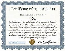 Fun Certificates For Employees Funny Employee Recognition Quotes Quotesgram
