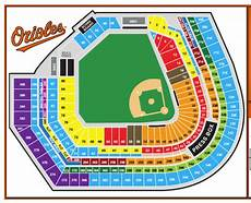 Camden Yards Seating Chart Detailed Oriole Park At Camden Yards Best Seats In The House The