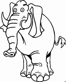 elefant mit kurzem ruessel ausmalbild malvorlage comics