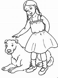mit zoepfen und hund ausmalbild malvorlage kinder