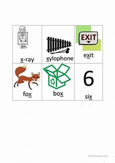 8 Letter Word With X Letter X Picture Word Cards English Esl Worksheets For