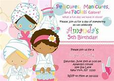 Spa Party Invitation Wording Spa Party Invitations Are Easy To Make You Can Start