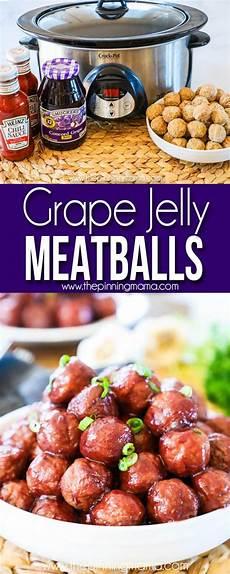 the best crock pot grape jelly meatballs appetizer recipe