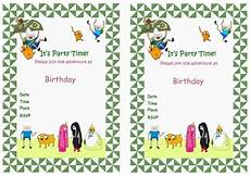 Adventure Time Party Invitations Adventure Time Birthday Invitations Birthday Printable
