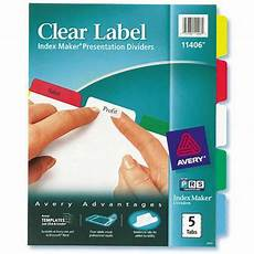 Avery Lable Maker Avery Index Maker Label Divider With Color Tabs 11406 Ave11406