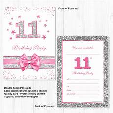 11th Birthday Party Invitation Wording 11th Birthday Party Invitations Pink Sparkly Design And