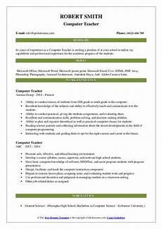 Resume Reading Software Computer Teacher Resume Samples Qwikresume