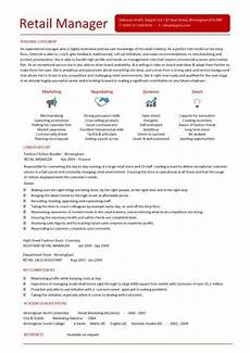 Examples Of Retail Cv Retail Cv Template Project Manager Resume Retail Resume