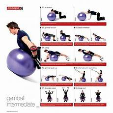 Pilates Ball Size Chart Escape Men S Stability Ball Progression Poster Home Gym