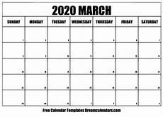 March 2020 Calendar Printable Printable March 2020 Calendar