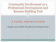 Resume Building Tools Ppt Community Involvement As A Professional Development