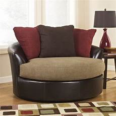 oversized accent chairs sanya mocha oversized swivel accent chair signature design