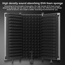 331x1060mm Panels Foldable Studio Microphone Isolation by Foldable Microphone Acoustic Isolation Shield Acoustic