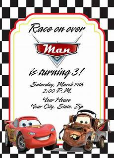 Cars Birthday Invitation Templates Cars Birthday Invitation With Lightening Mcqueen By