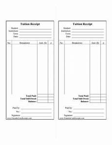 school receipt template this printable school fee receipt breaks expenses