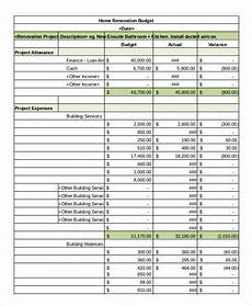 Renovation Budget Template Free Simple Budget Spreadsheet Template 13 Freeword Excel