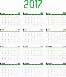 How To Make A 12 Month Calendar In Word Vector Of Calendar 2017 New Year 12 Month Calendar Set