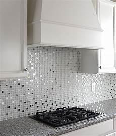 mosaic tiles backsplash kitchen modern white glass metal kitchen backsplash tile