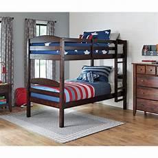 2 beds convertible in bunk espresso wooden bed children s