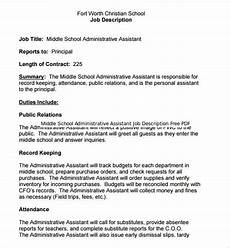 Senior Administrative Assistant Job Description 13 Administrative Assistant Job Description Templates