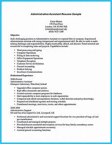 Administrative Assistant Objective Sample Sample To Make Administrative Assistant Resume