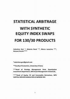 Statistical Arbitrage Statistical Arbitrage Strategies