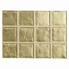 Leaf Tile Lights Windglass 2 Quot X 2 Quot Handmade Mosaic Light Gold Leaf Natural