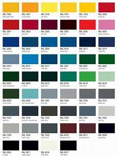 Rail Color Chart The Ral Colour Range