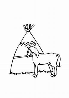 ausmalbilder indianer pferd pferde malvorlagen