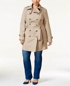plus trench coats for racing jones new york plus size water resistant breasted
