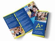 Education Leaflet Design Awesome Tutoring Tri Fold Brochure Template Mycreativeshop