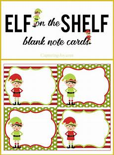 Printable Christmas Note Cards Elf On A Shelf Blank Note Cards Capturing Joy With