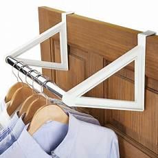 door clothes hanger madwell the door closet bar hanging clothes rack no hardware