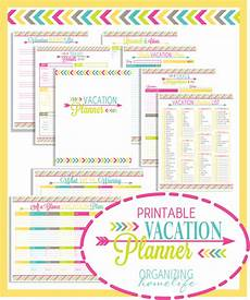 Planning For Vacation Vacation Planning Printable Pack Organizing Homelife